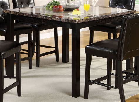 faux marble counter height table atlas ii 47 quot faux marble square counter height leg table
