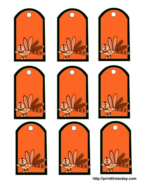 Printable Thanksgiving Tags | free printable tags for thanksgiving