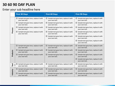 30 60 90 day plan template powerpoint 30 60 90 day plan template lisamaurodesign