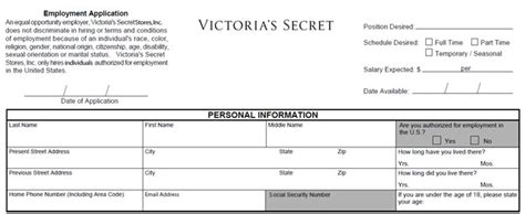 printable job applications victoria s secret victoria s secret job application printable job