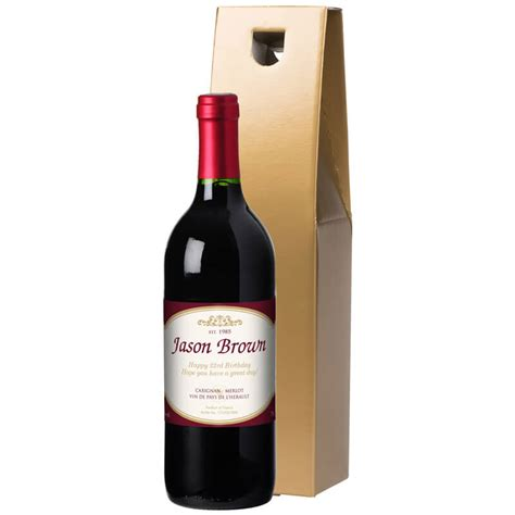 personalised bottle of red wine buy from prezzybox com