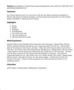 Iron Worker Sle Resume resume writing tips software engineer ebook database