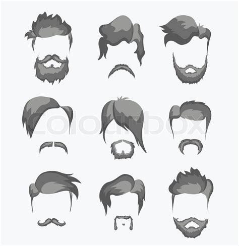 Nino Mustache By Z Shop schnurrbart bart und frisur vektorgrafik