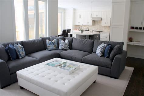 blue gray sectional blue pillows grey sectional sofa contemporary toronto with