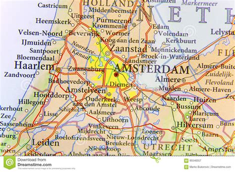 netherlands capital map geographic map of european country netherlands with