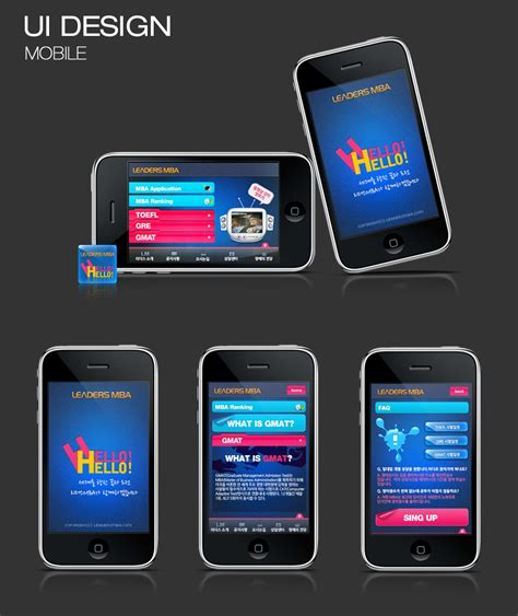 Of Mobile Mba by Leaders Mba Mobile Site Ui Design Web Design Sydney