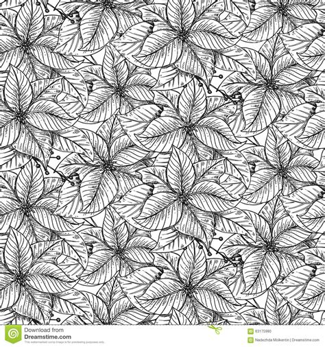 vector seamless pattern with hand drawn decorative