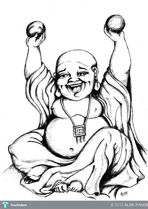 pics for gt happy buddha drawing