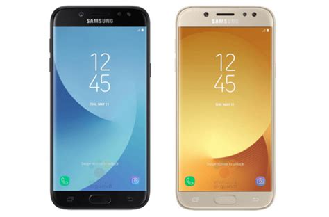 samsung galaxy j5 and galaxy j7 2017 press renders and specs leak