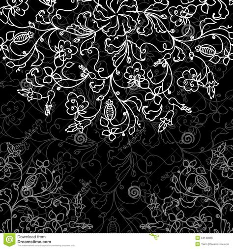 blackboard pattern vector chalkboard floral pattern stock vector
