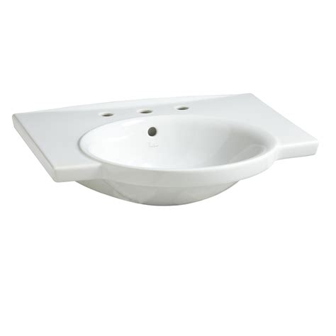 porcher bathroom sinks shop porcher veneto white clay wall mount rectangular