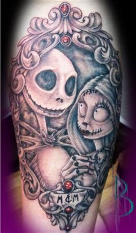 tattoo nation burton mi jack and sally awesome tattoo i wish i were less