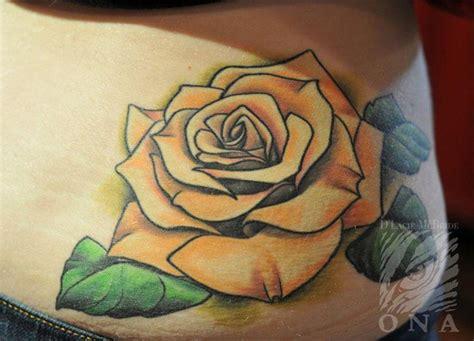 black and yellow rose tattoo 28 best yellow tattoos