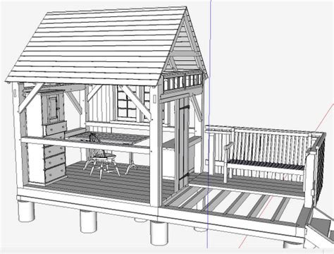 timber frame design using sketchup showing off your sketchup inventory finewoodworking