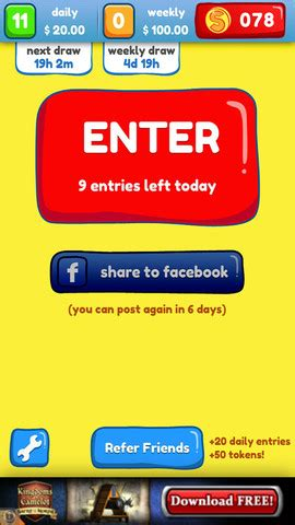 sweepstakes free iphone app review win free cash - Free Sweepstakes App