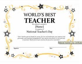 certificates for teachers the world s best teacher award