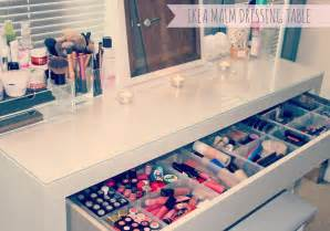Makeup Table Ideas My Makeup Storage Ikea Malm Dressing Table Couture