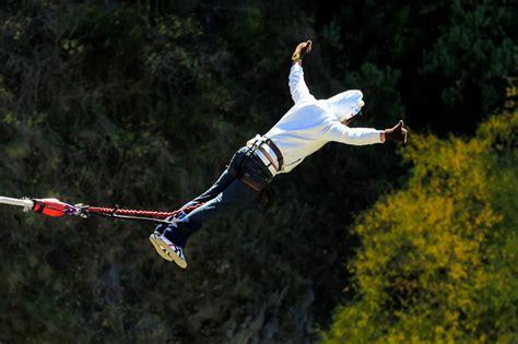 bungee swing bungy jump bungee jump cable slide bridge swing