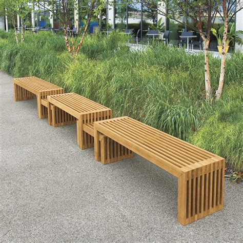 modern wood bench summer is coming so you need a bench