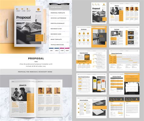 layout background proposal clean business project proposal template layout