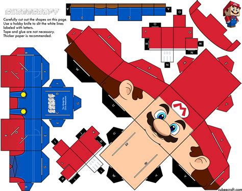 How To Make A Paper Toys - papertoys mario de cubeecraft x2 paper fr