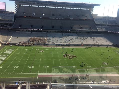 kyle field sections 300 level sideline kyle field football seating