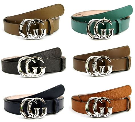 new authentic gucci mens leather belt with silver gg buckle 362734 ebay