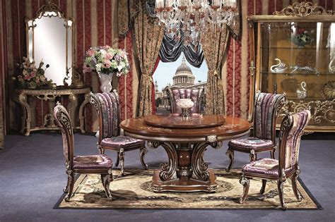 versailles dining room 7 piece george versailles luxury round dining set