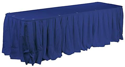 cheap polyester table skirts blue pleated table skirt for and rectangular tables
