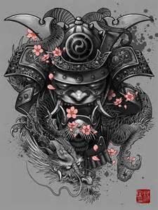 quot dragon samurai quot artwork by elvintattoo artsider