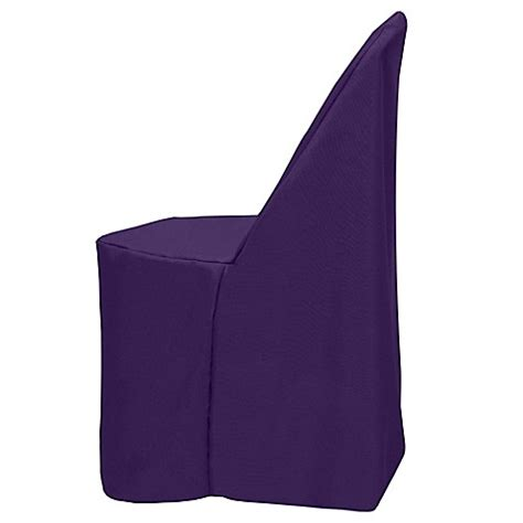 purple folding chair buy basic polyester cover for plastic folding chair in
