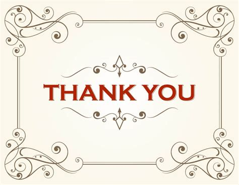 Thank You Card Template 123freevectors Printable Thank You Card Template