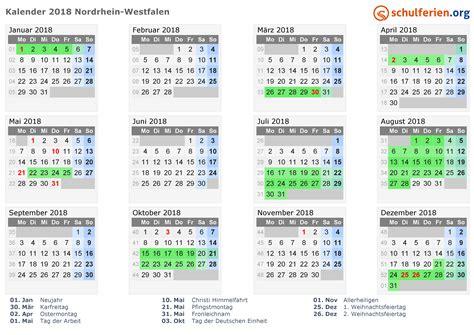 wann sind schulferien kalender 2018 ferien nordrhein westfalen feiertage