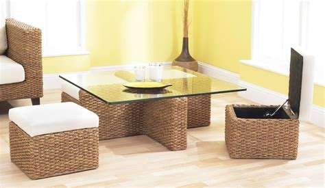 Cube Coffee Table Set Cube Coffee Table Set Conservatory Rattan Water Hyacinth Delux Deco