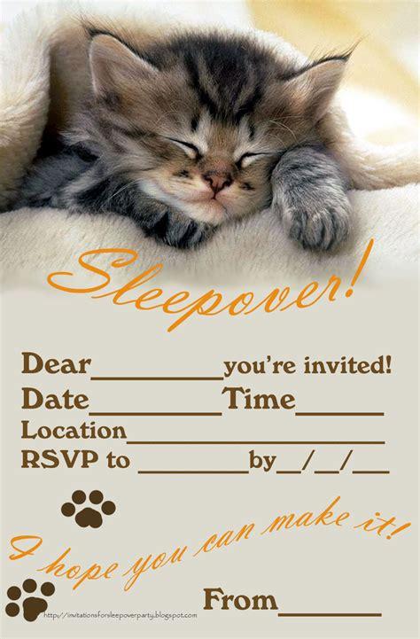 free sleepover birthday invitations printable invitations for sleepover
