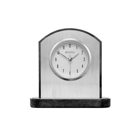 Bulova Table Clock by Mirage Engravable Table Clock Bulova B5013