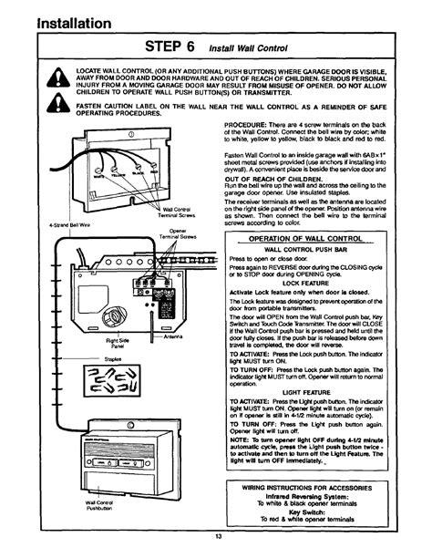 Craftsman Garage Door Opener Manual by Installation Craftsman 1 2hp Garage Door Opener 139