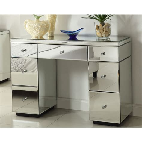 mirrored 6 drawer dressing table rio crystal mirrored dressing table console 7 drawer