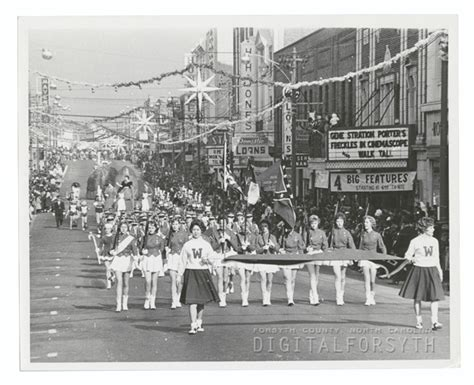 nc history of snowy christmas winston salem parade 1960 winston salem nc history winston salem and