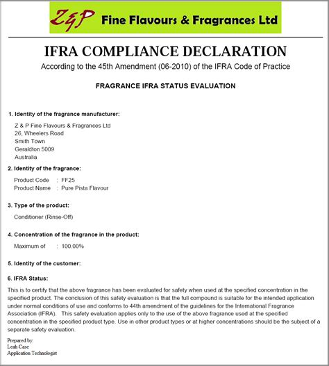 compliance statement template documentation configuration and generation in pistachio