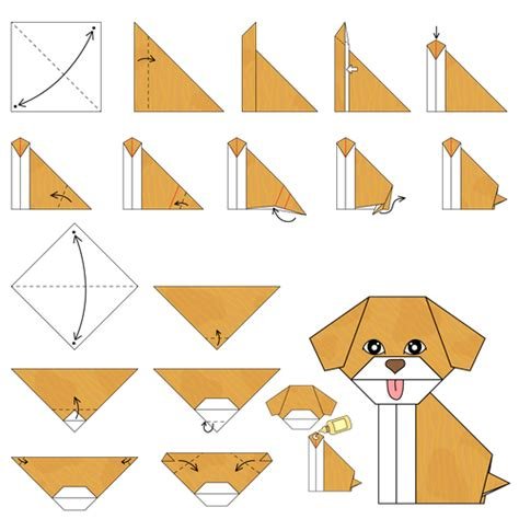 Steps To Do Origami - puppy animated origami how to make origami