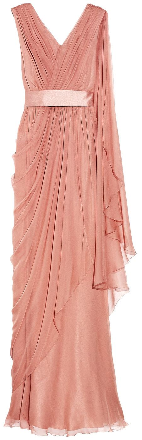 greek draped dress alberta ferretti draped silk chiffon gown details fit