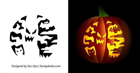 spooky tree pumpkin template 10 free printable scary pumpkin carving patterns stencils