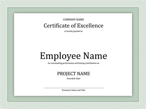 business award certificate templates minimalist design of business certificate of excellence