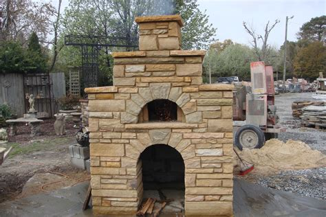 outdoor fireplace with pizza oven plans outdoor