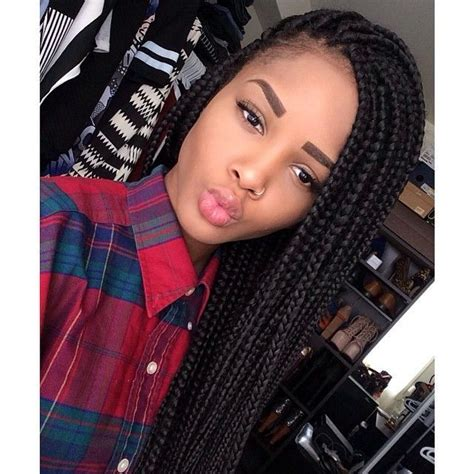 images of medium size individual african american braids 65 box braids hairstyles for black women box braids