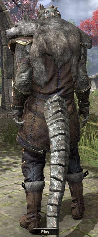 elder scrolls  werewolf lord eso fashion