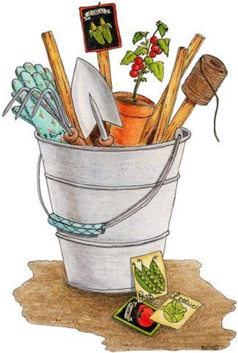 vintage garden clip art clipground