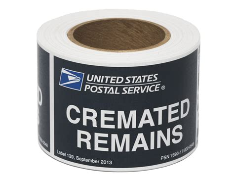 funeral fund shipping cremated remains via u s mail