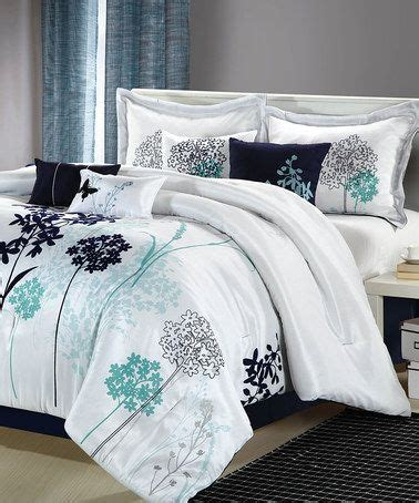 home design comforter take a look at this white blue clara comforter set by chic home design on zulily today diy